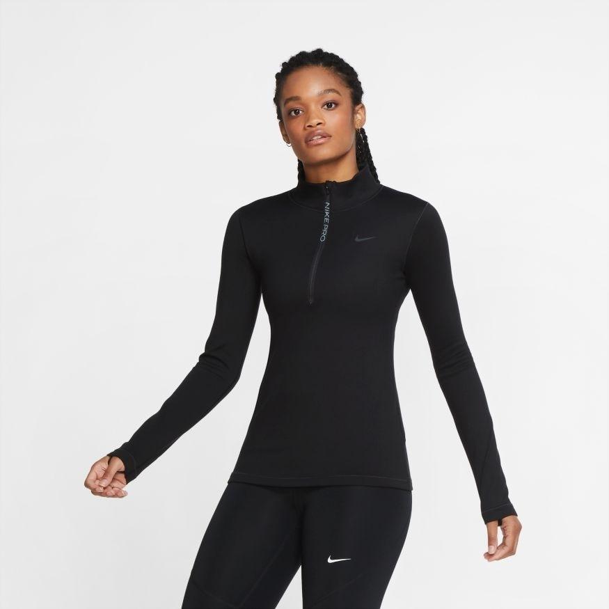 Nike Pro Therma Warm Treningsgenser Dame Sort