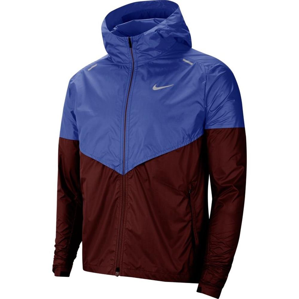 Nike Windrunner Løpejakker Herre Burgunder/Blå