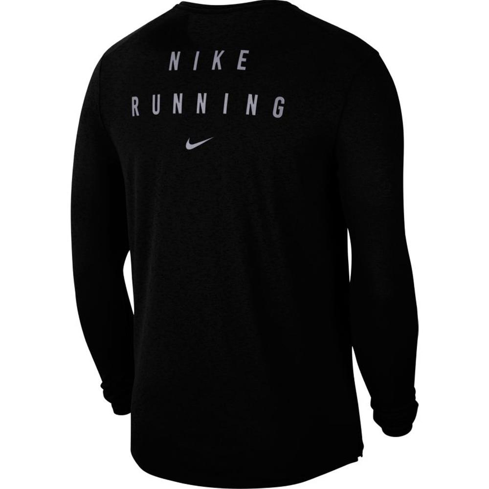 Nike Run Miler Flash Langermet Treningstrøye Sort