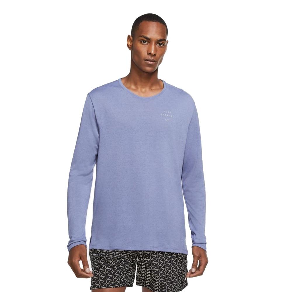 Nike Run Miler Flash Langermet Treningstrøye Blå