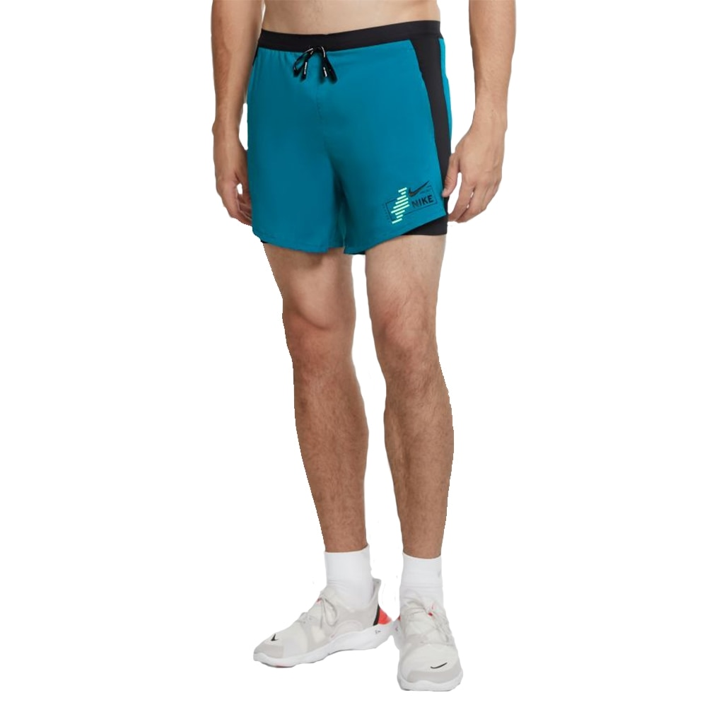 Nike Flex Stride 2in1 Hybrid GX Løpeshorts Herre Blå