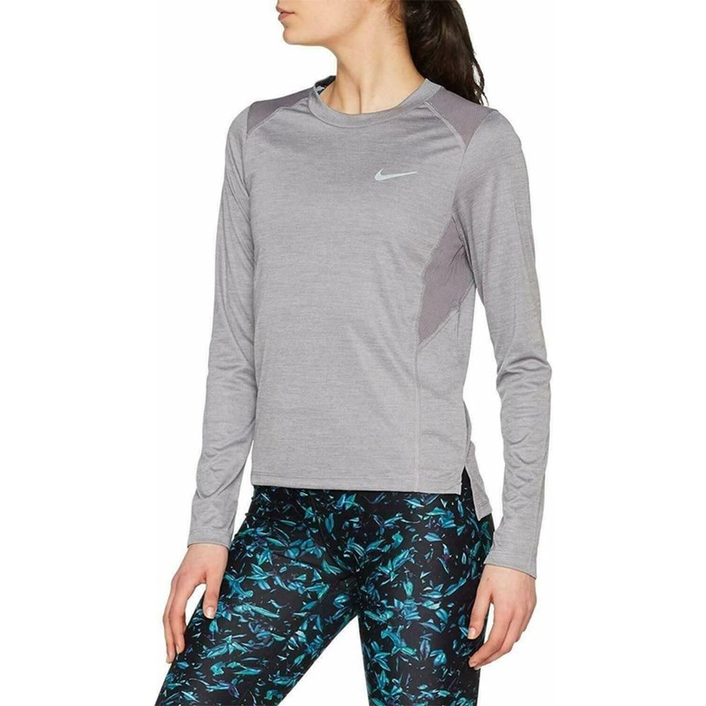 Nike Miler Langermet Treningstrøye Dame Grå