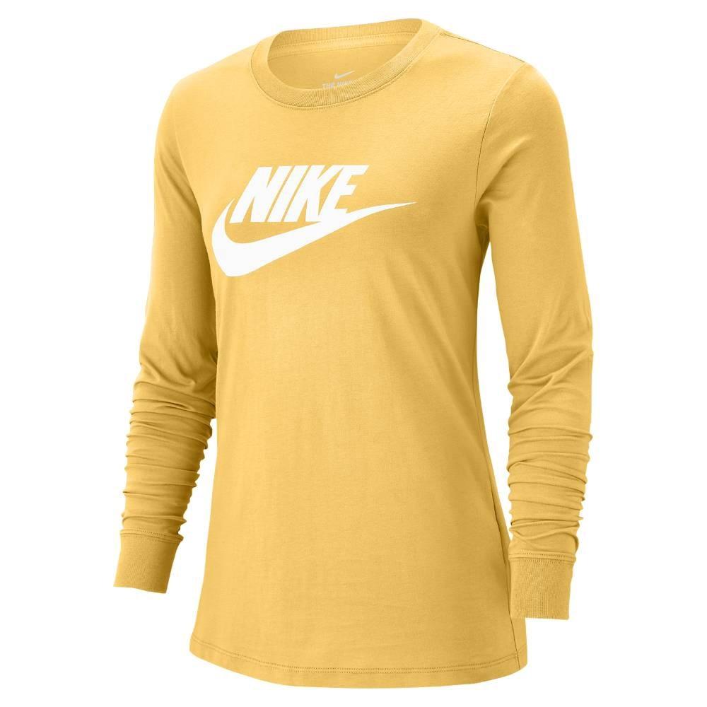 Nike Essential Langermet Trøye Dame Gul