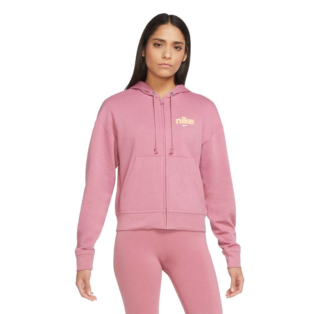 Nike Varsity Hoodie Fleece Hettegenser Dame Rosa