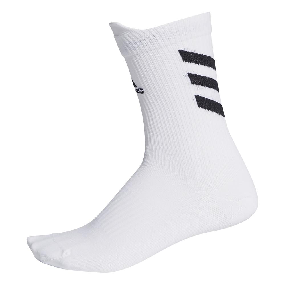 Adidas Alphaskin Crew Sokker Hvit