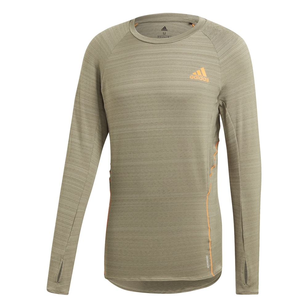 Adidas Runner Langermet Løpetrøye Herre Grønn