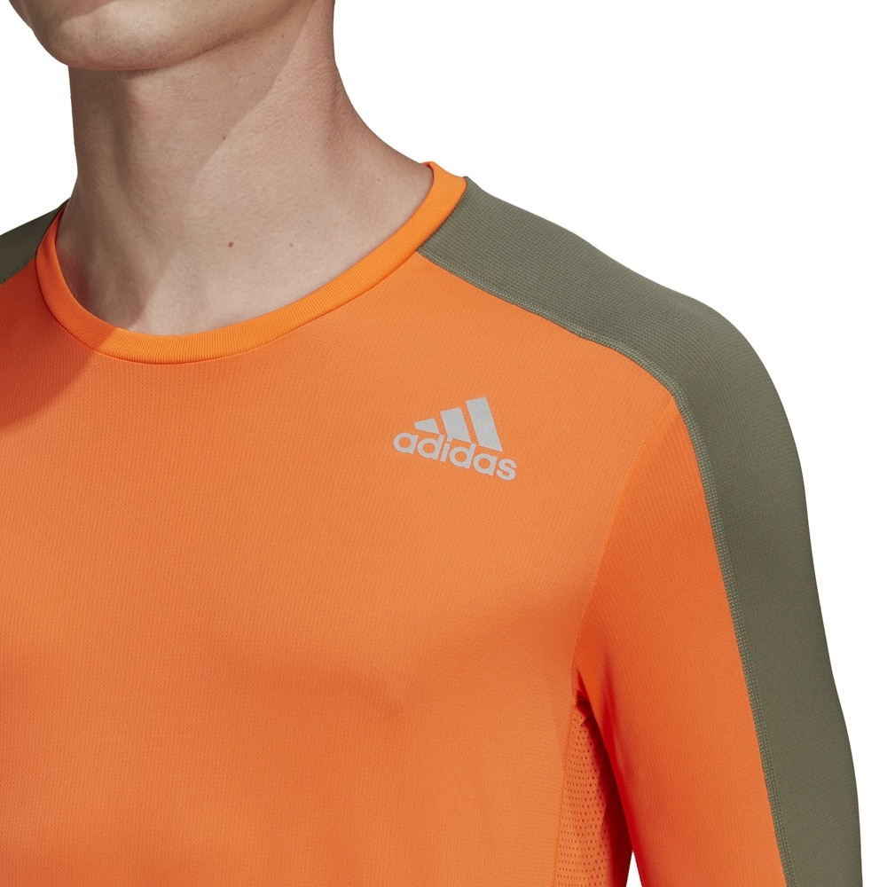 Adidas Own The Run Langermet Løpetrøye Herre Oransje
