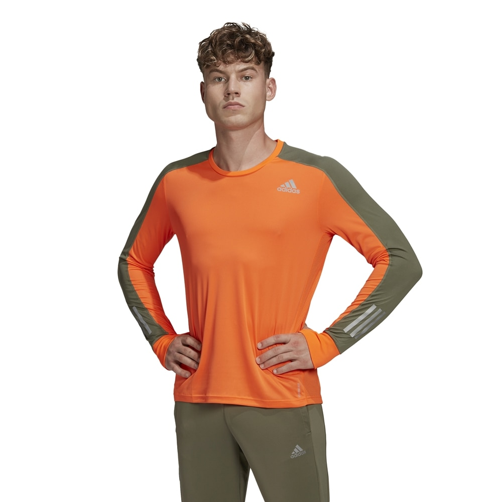 Adidas Own The Run Langermet Løpetrøye Herre Oransje
