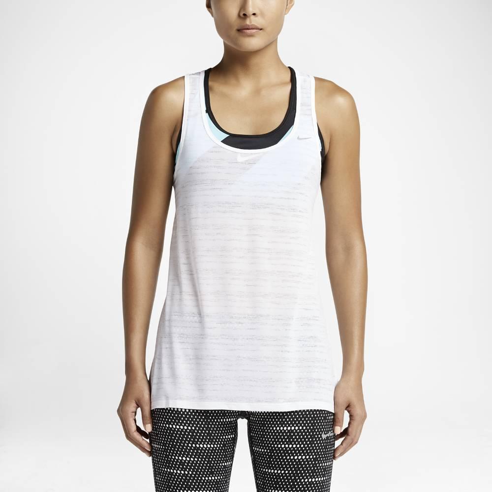 Nike Dri-FIT Touch Breeze Stripe Tank Top Singlet Hvit