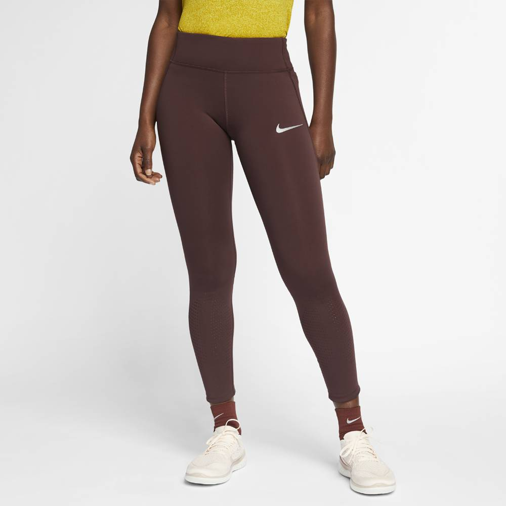 Nike Epic Lux Tights Dame Brun