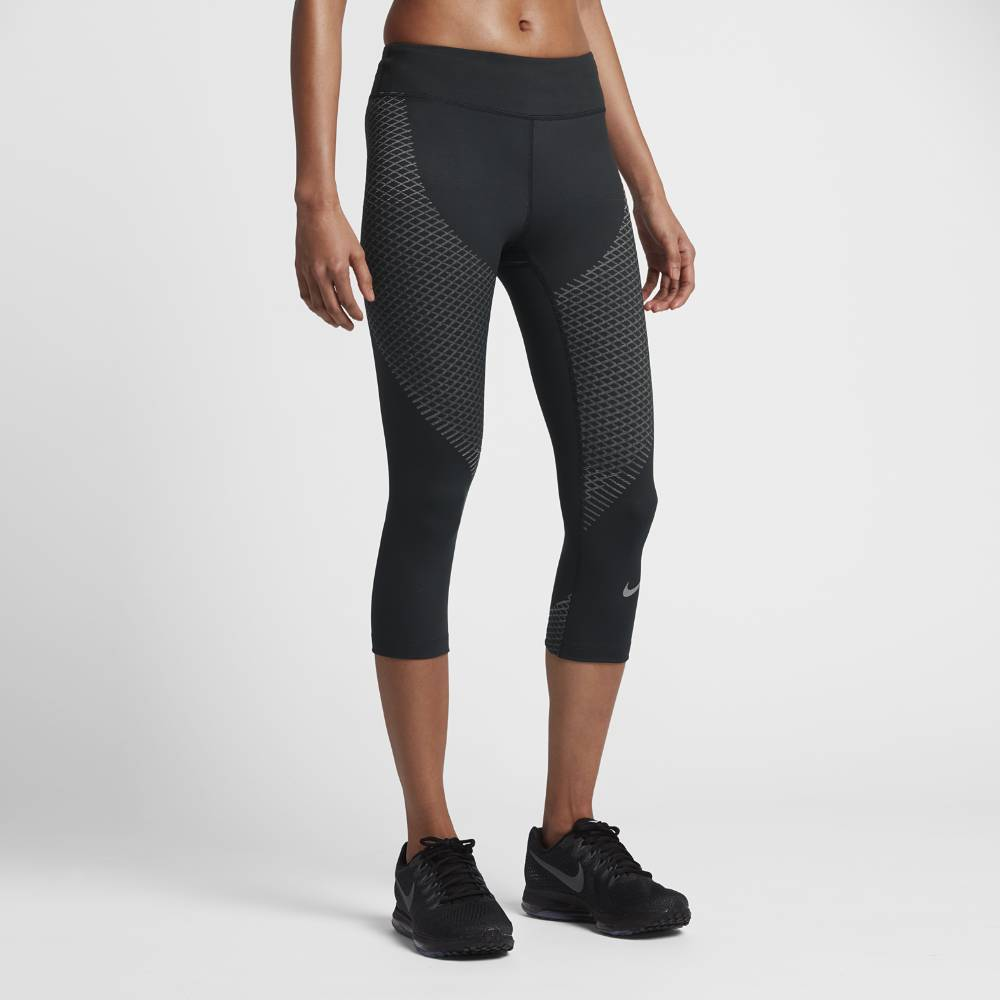 Nike Zonal Strength Capri Løpetights Dame Sort/Grå