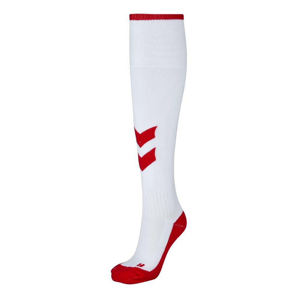 Hummel Fundamental Fotballstrømper Hvit/Rød