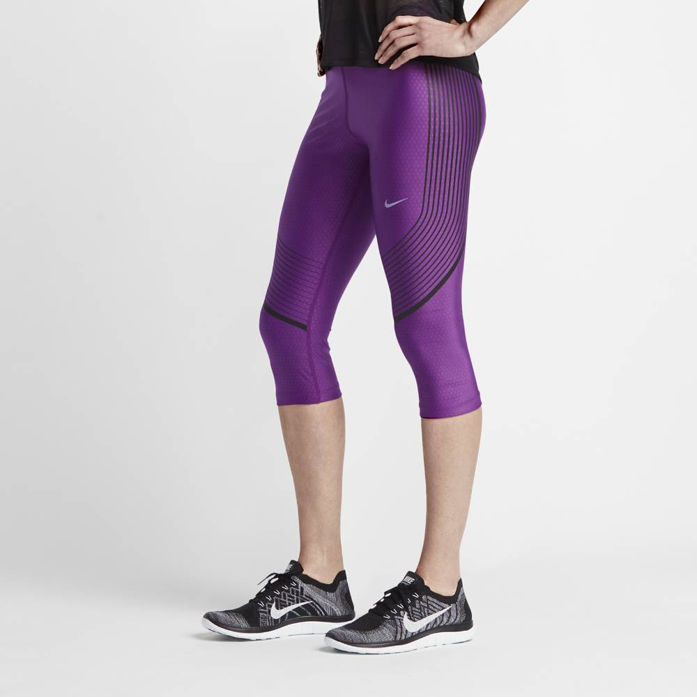 Nike Power Speed Capri Tights Dame Lilla