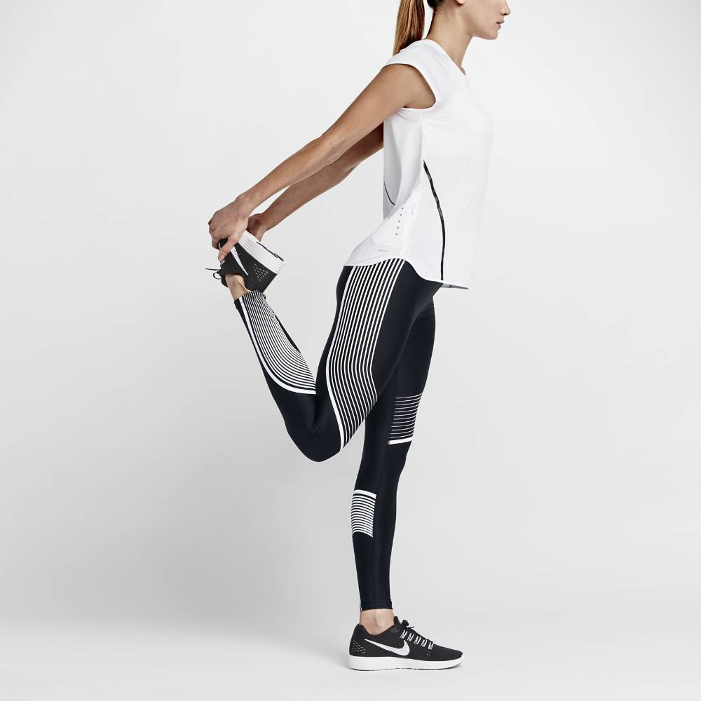Nike Power Speed Løpetights Dame Sort/Hvit