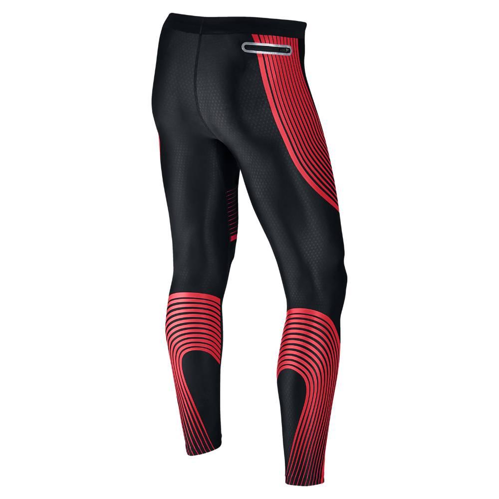 Nike Power Speed Løpetights Herre Sort/Rød