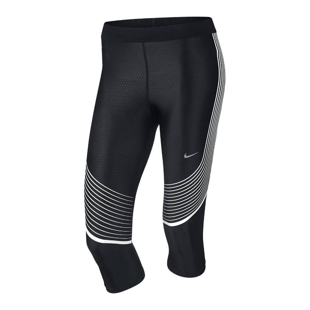 Nike Power Speed Capri Løpetights Dame Sort