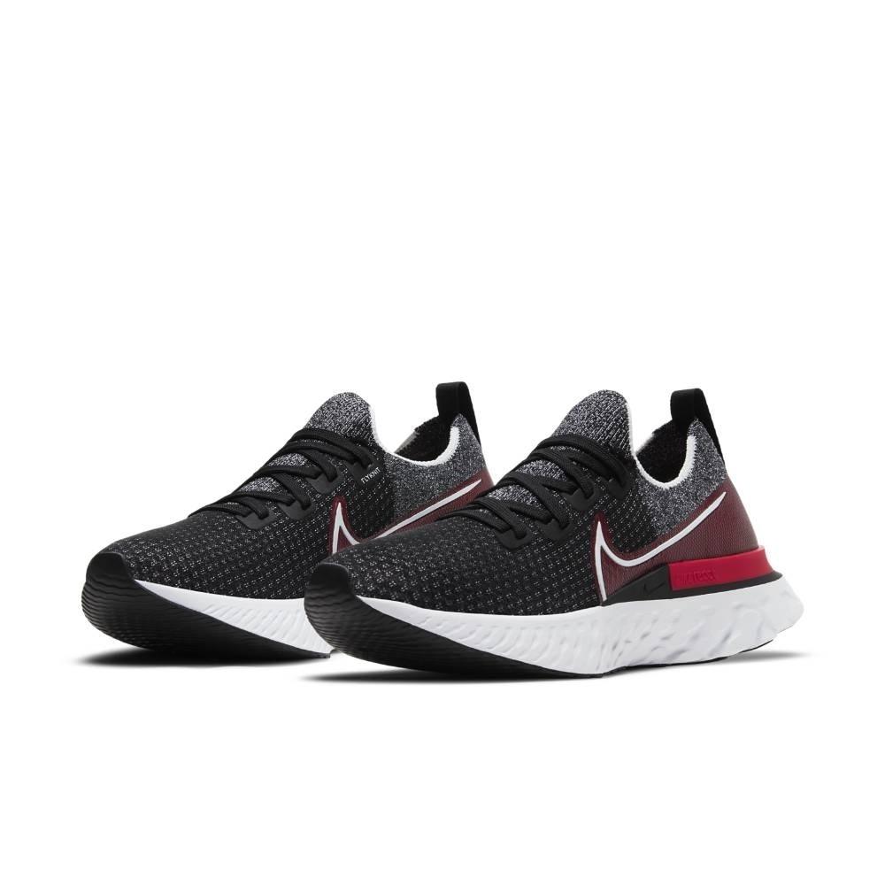 Nike React Infinity Run Flyknit Joggesko Herre Sort/Rød
