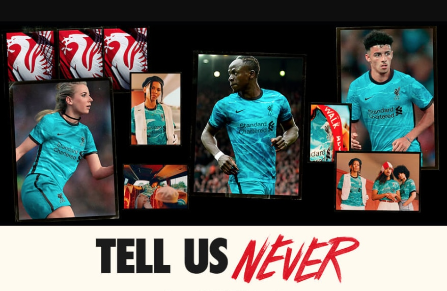 Nike Liverpool FC Fotballdrakt 20/21 Borte Barn