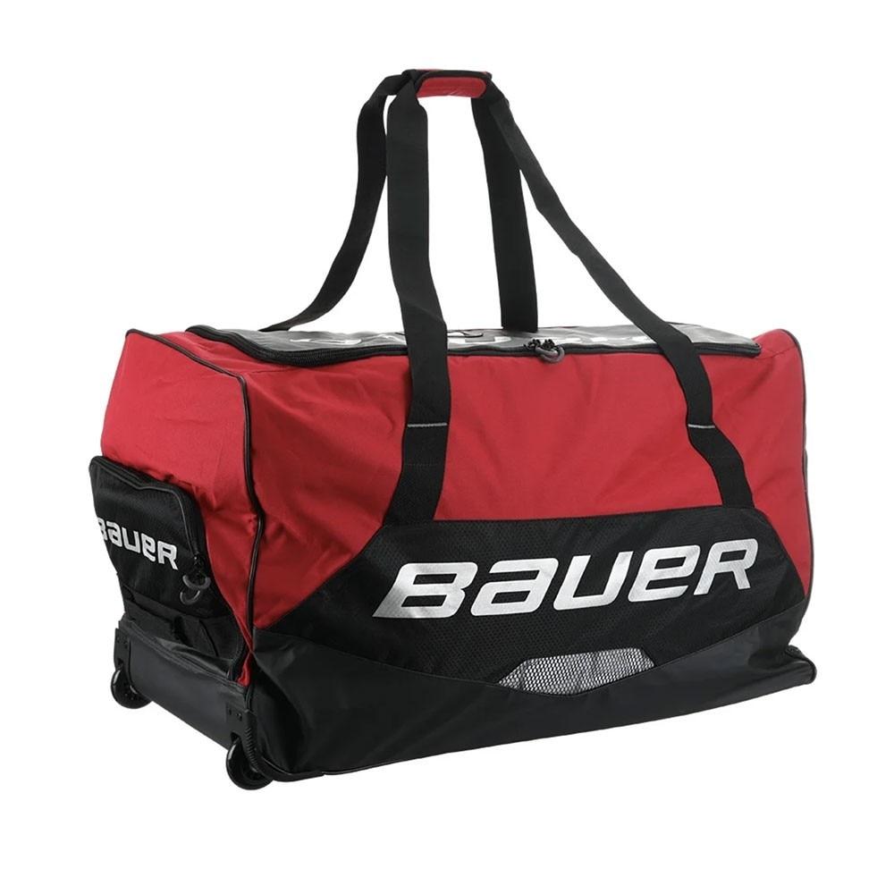 Bauer Premium Junior Hockeybag med hjul Rød
