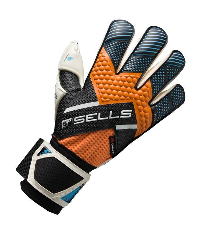 Sells Wrap Elite Aqua Keeperhansker Oransje/Blå