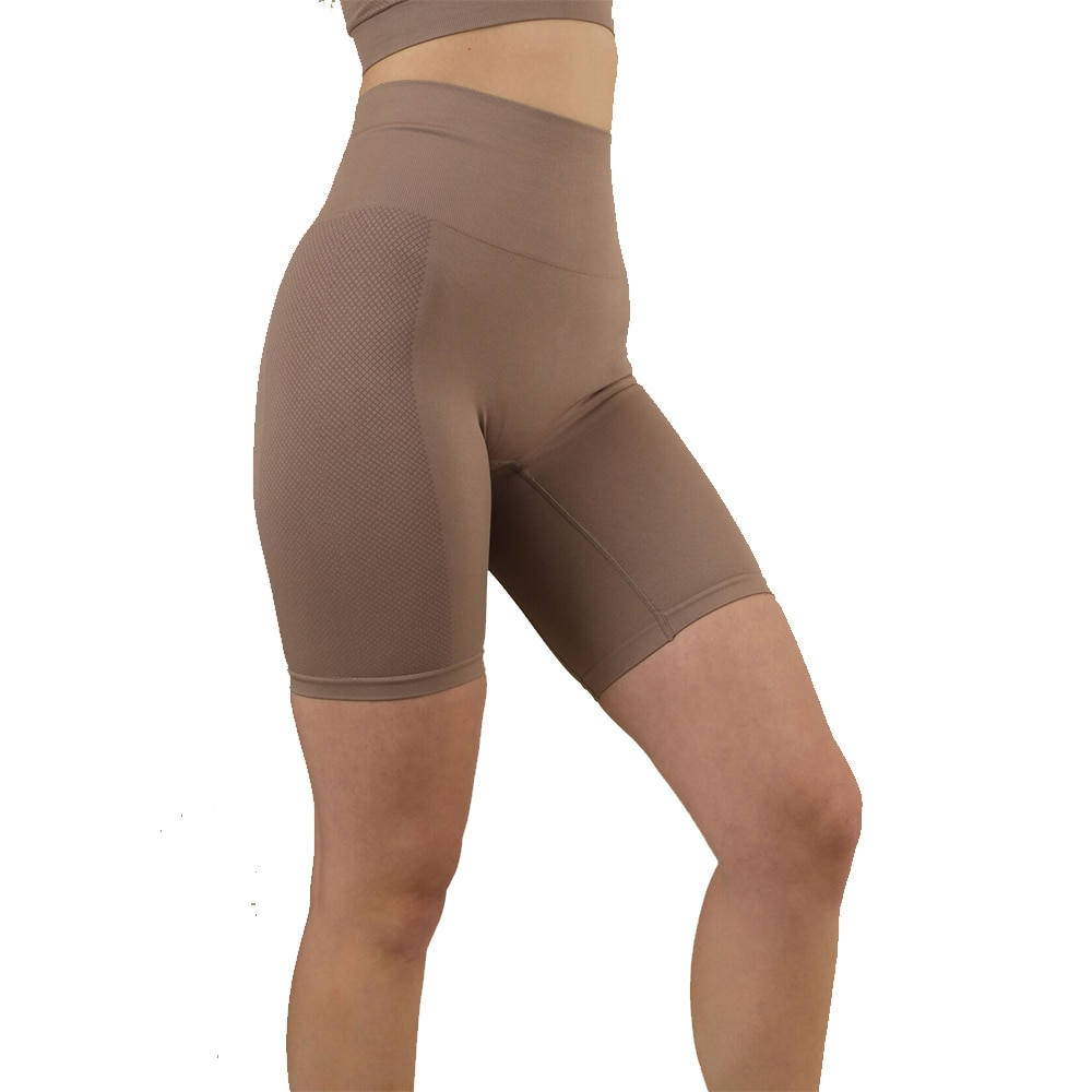 Stay In Place Seamless Biker Tights Dame Brun