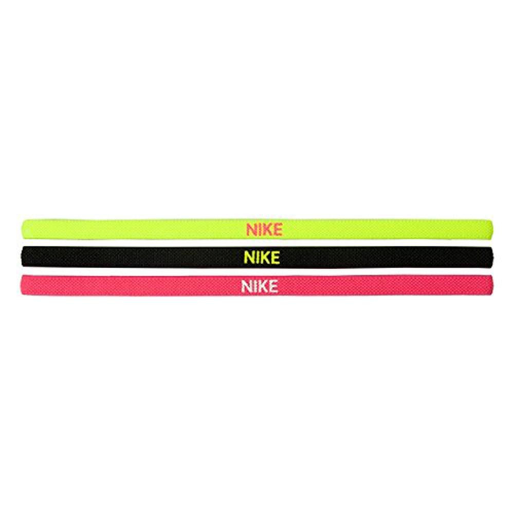 Nike Elastisk Hårbånd 3pk Volt/Sort/Rosa