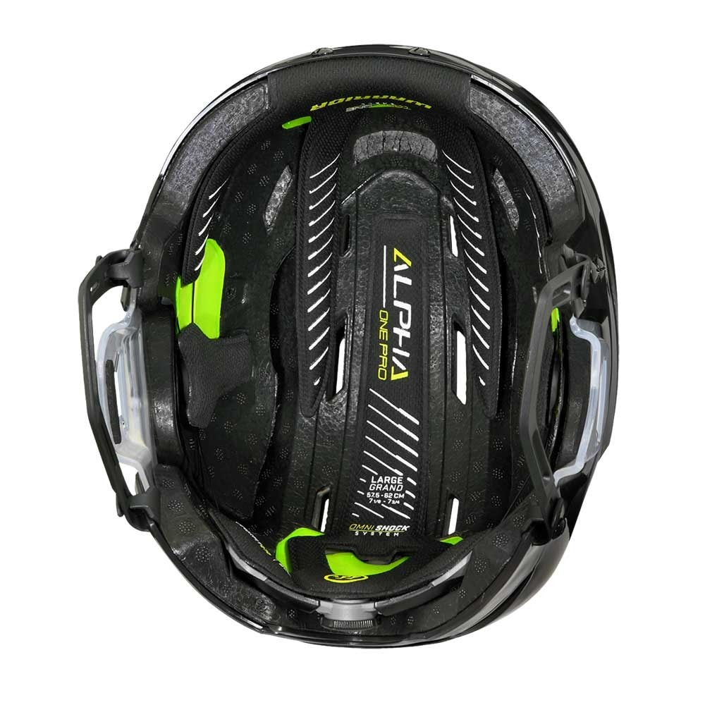 Warrior Alpha One Pro Combo Hockeyhjelm Svart