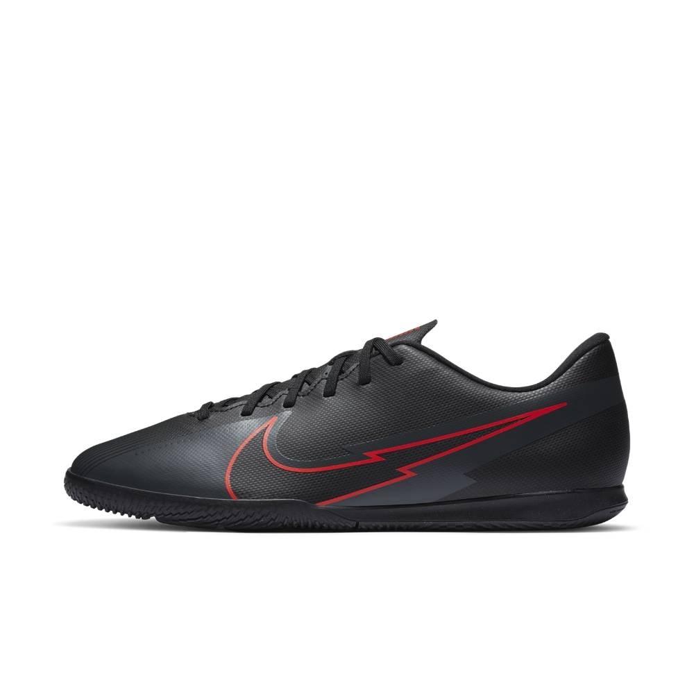 Nike MercurialX Vapor 13 Club IC Futsal Innendørs Fotballsko Black x Chile Red Pack
