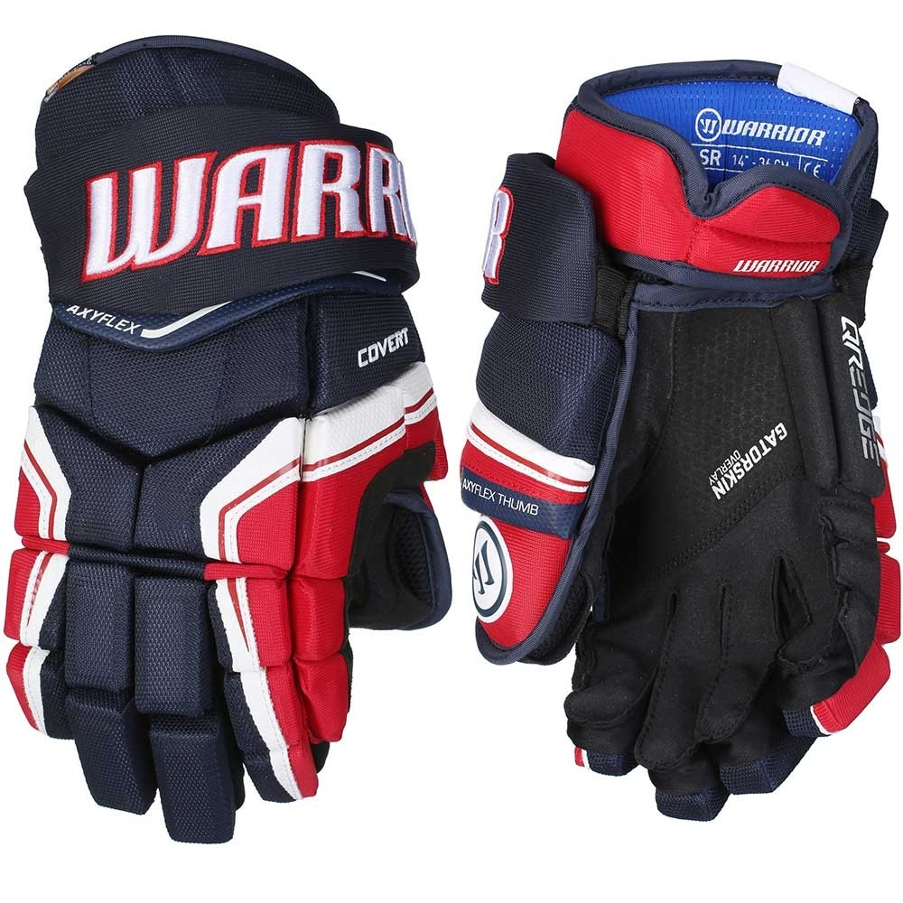 Warrior Covert QRE Junior Hockeyhanske Marine/Rød/Hvit