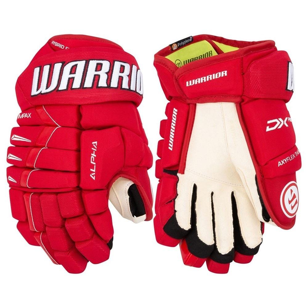 Warrior Alpha DX PRO Junior Hockeyhanske Rød