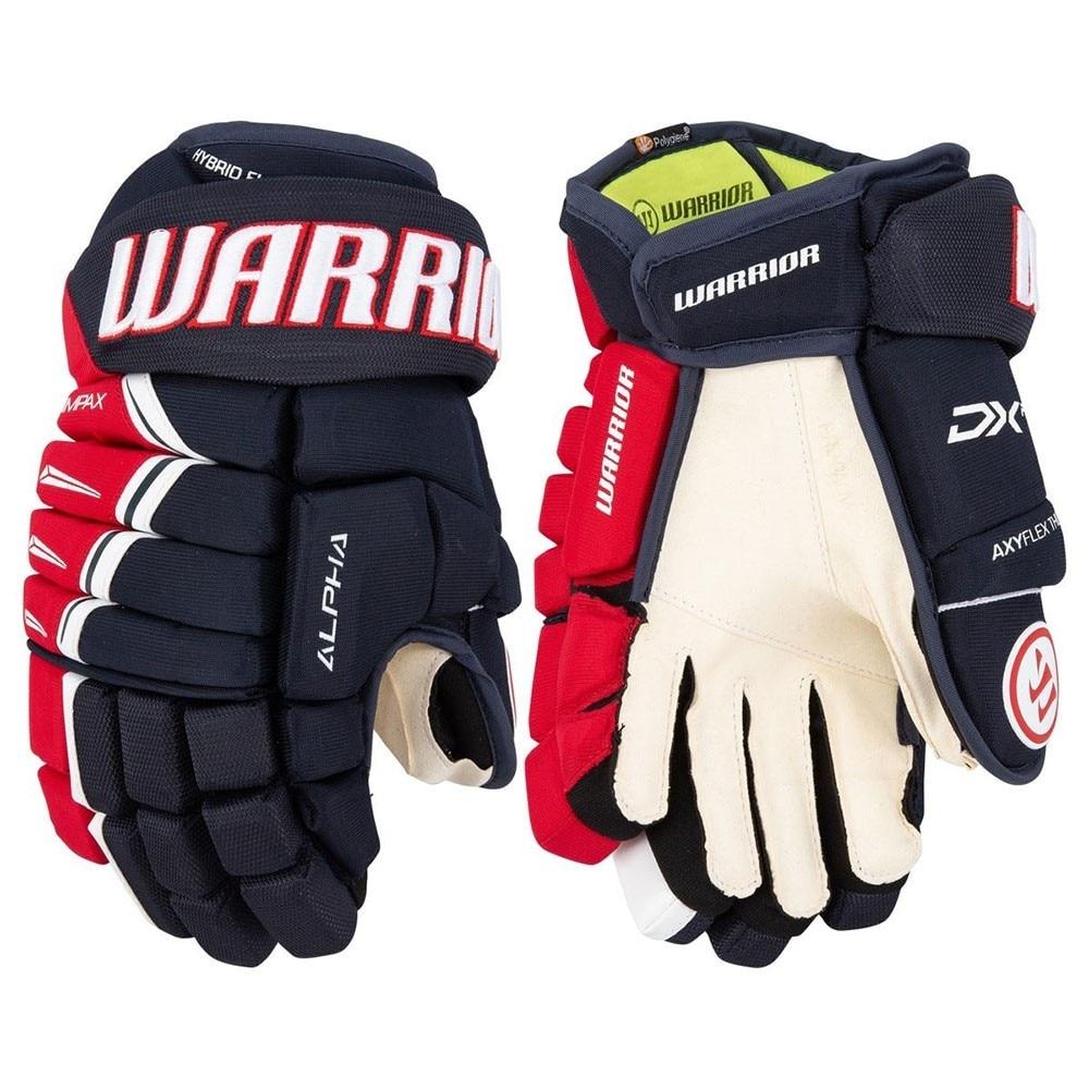 Warrior Alpha DX PRO Junior Hockeyhanske Marine/Rød/Hvit