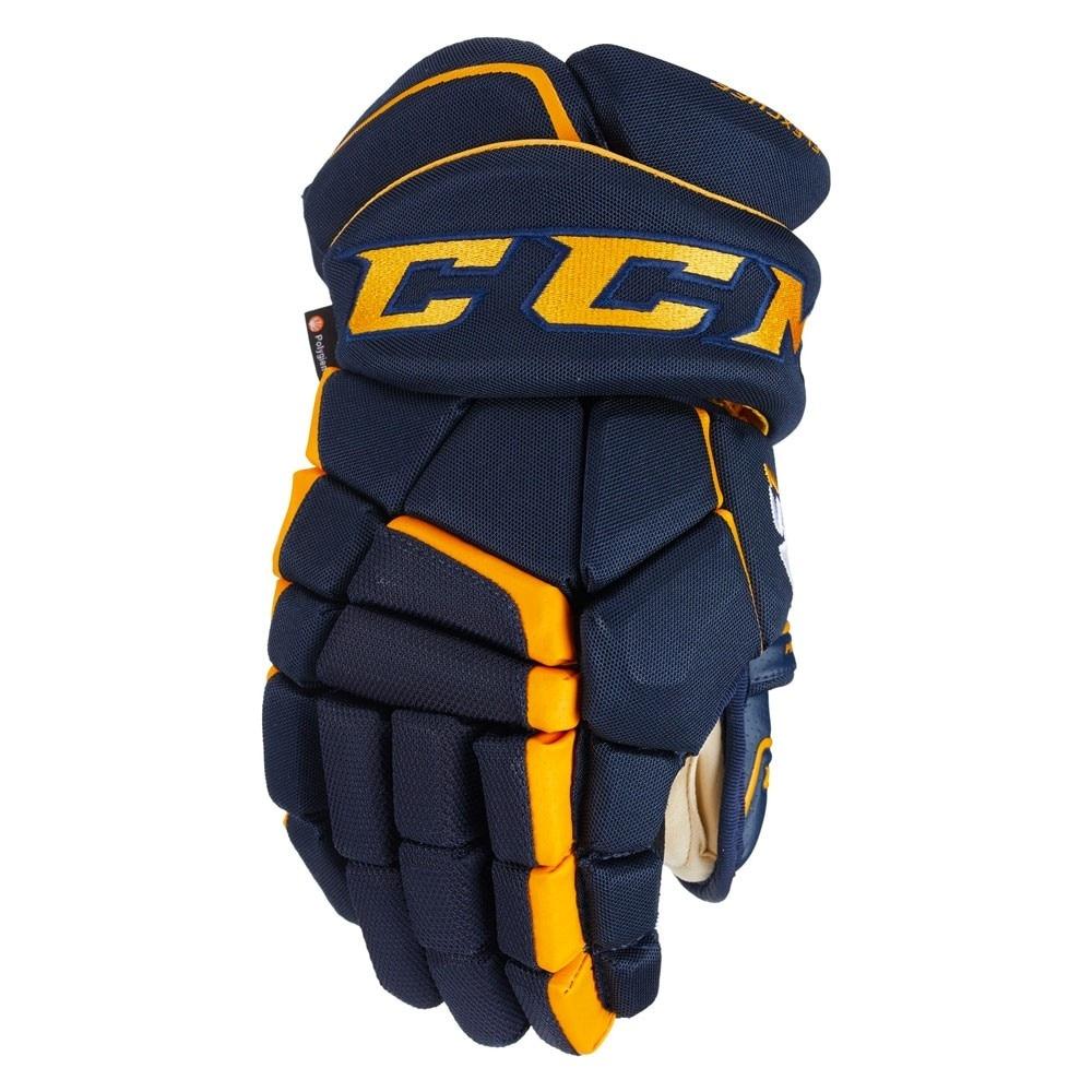 Ccm Super Tacks AS1 Junior Hockeyhanske Marine/Gul