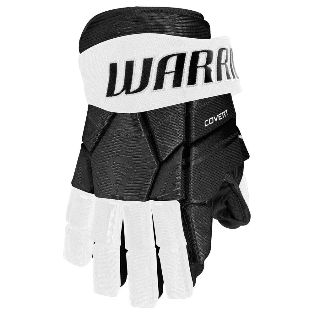 Warrior Covert QRE 30 Junior Hockeyhanske Svart/Hvit