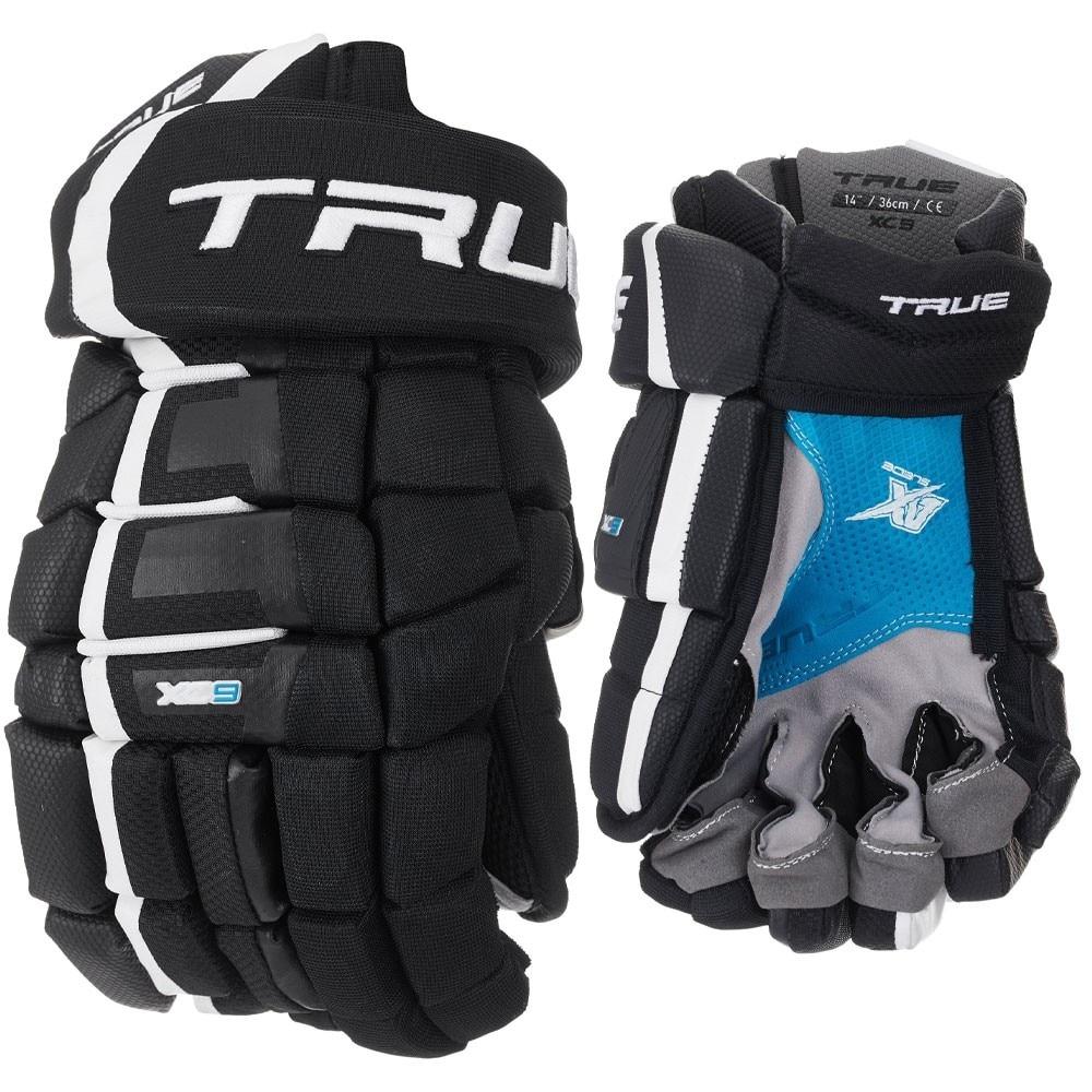 True XC9 Junior Hockeyhanske Svart