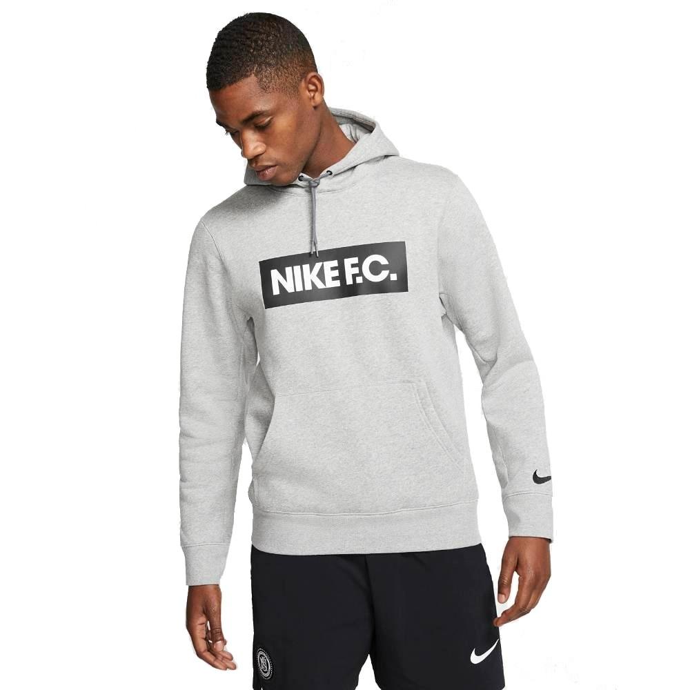 Nike FC Hoodie Hettegenser Grå