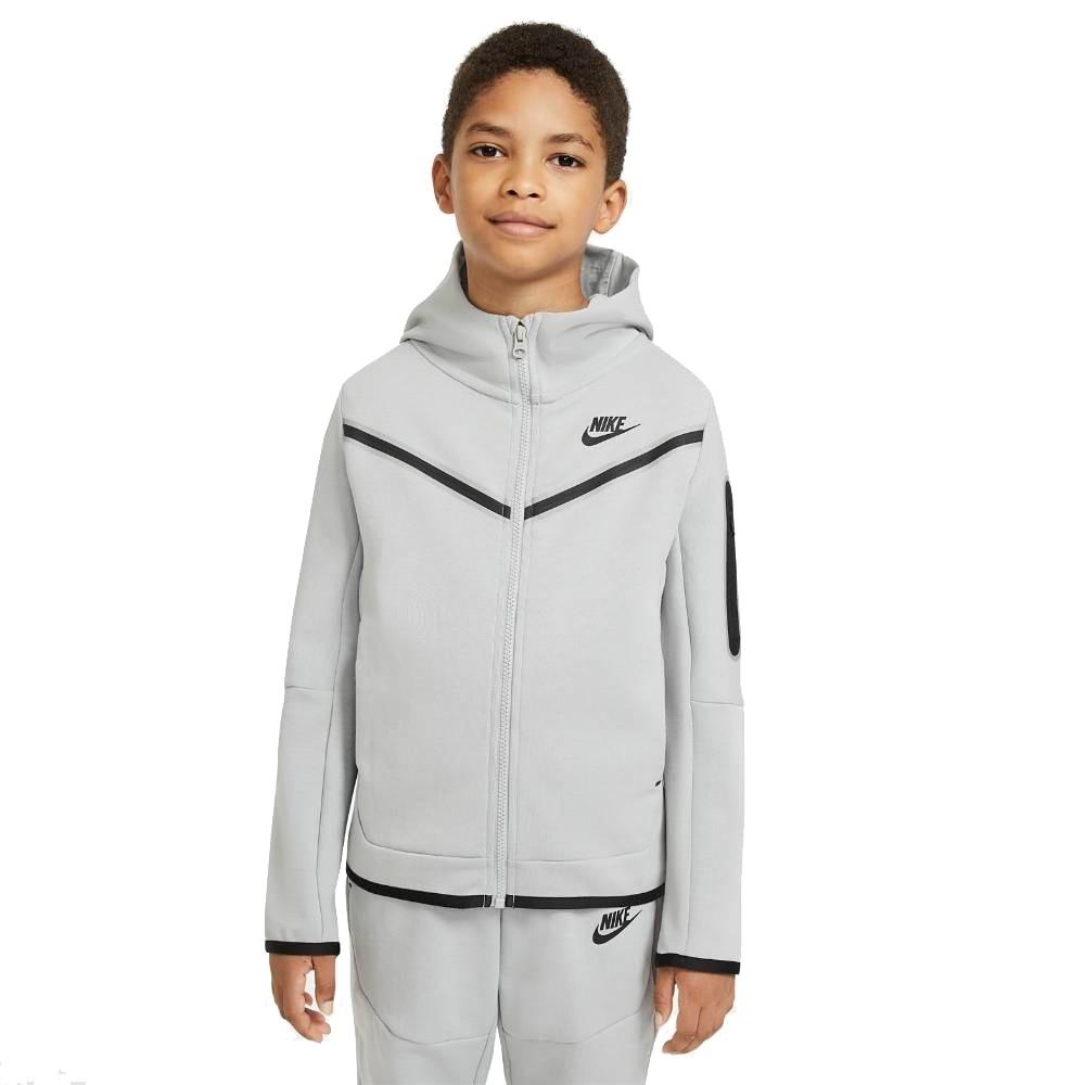 Nike Tech Fleece Hettegenser Barn Lysegrå
