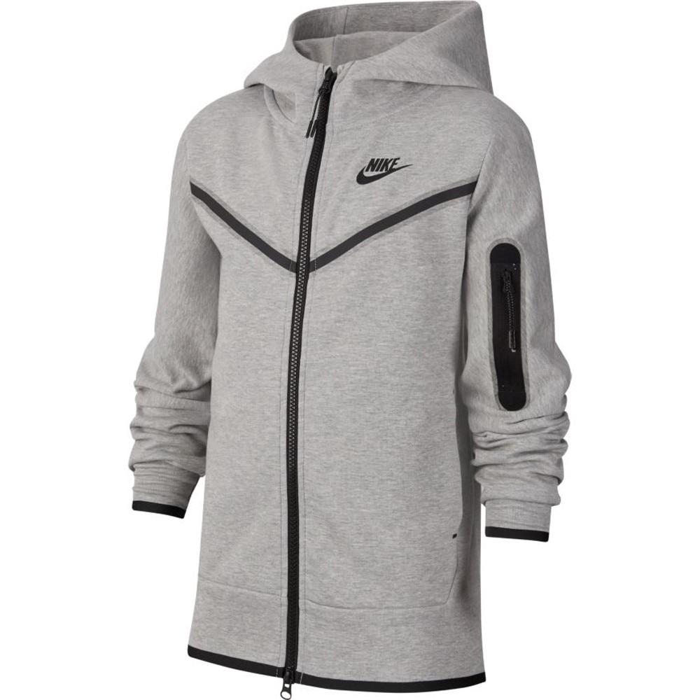 Nike Tech Fleece Hettegenser Barn Grå