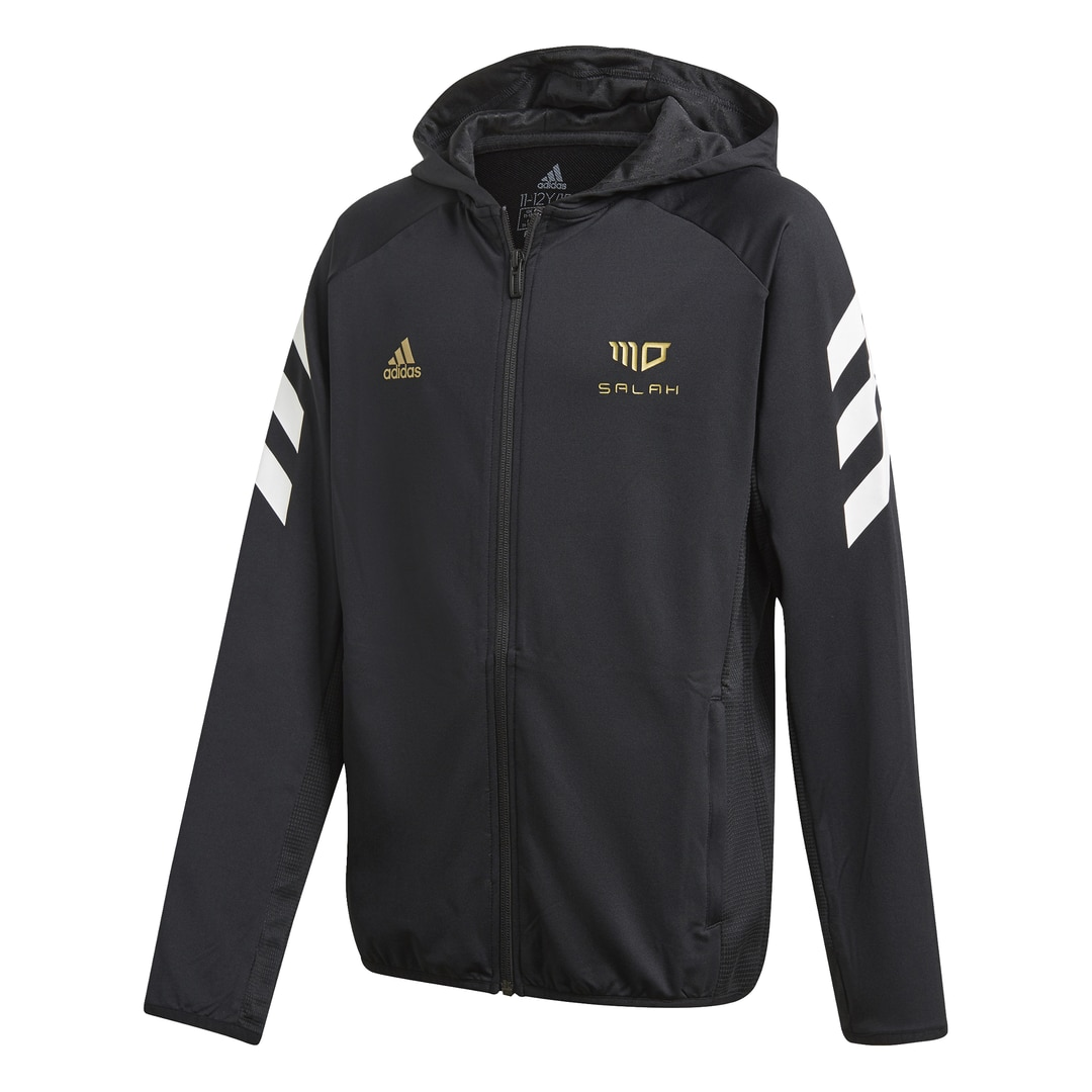 Adidas Salah Football-Inspired FullZip Hettegenser Barn Sort