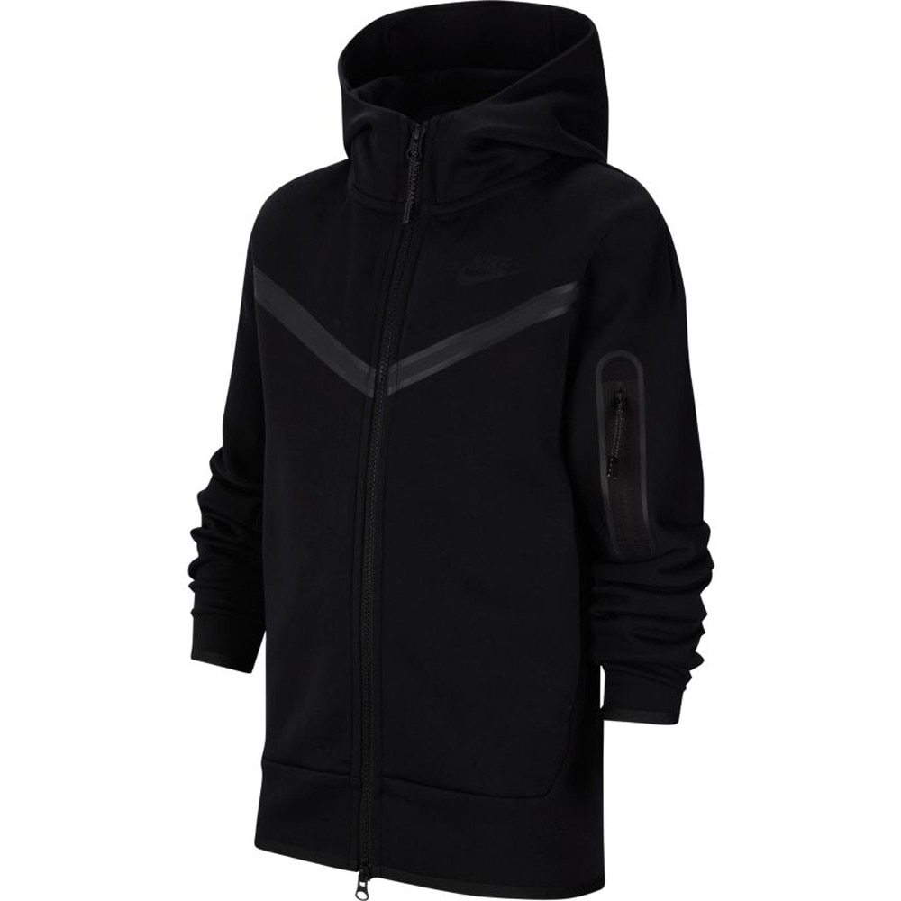 Nike Tech Fleece Hettegenser Barn Sort