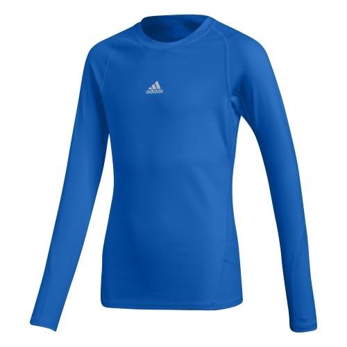Adidas Alphaskin Sport Langermet Trøye Barn Blå