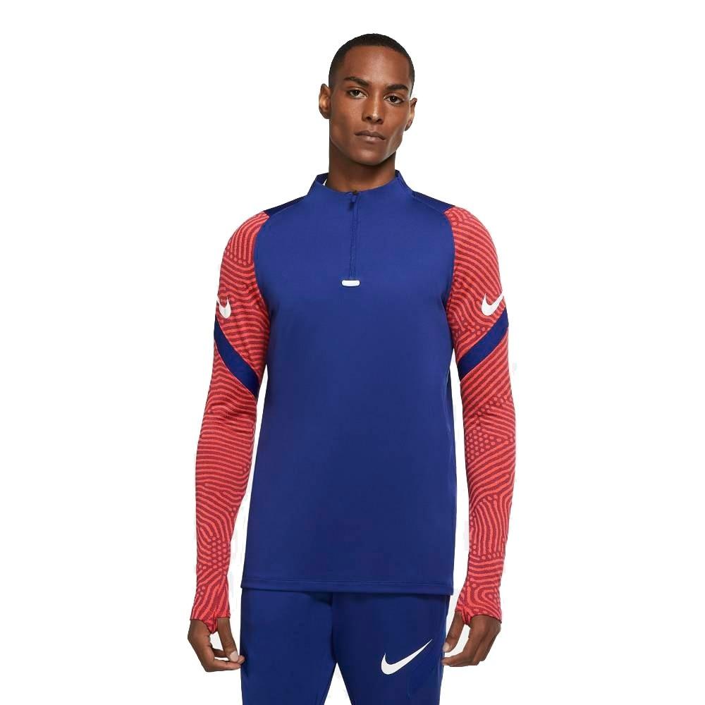 Nike Dry Strike Drill Fotballgenser Blå/Rød
