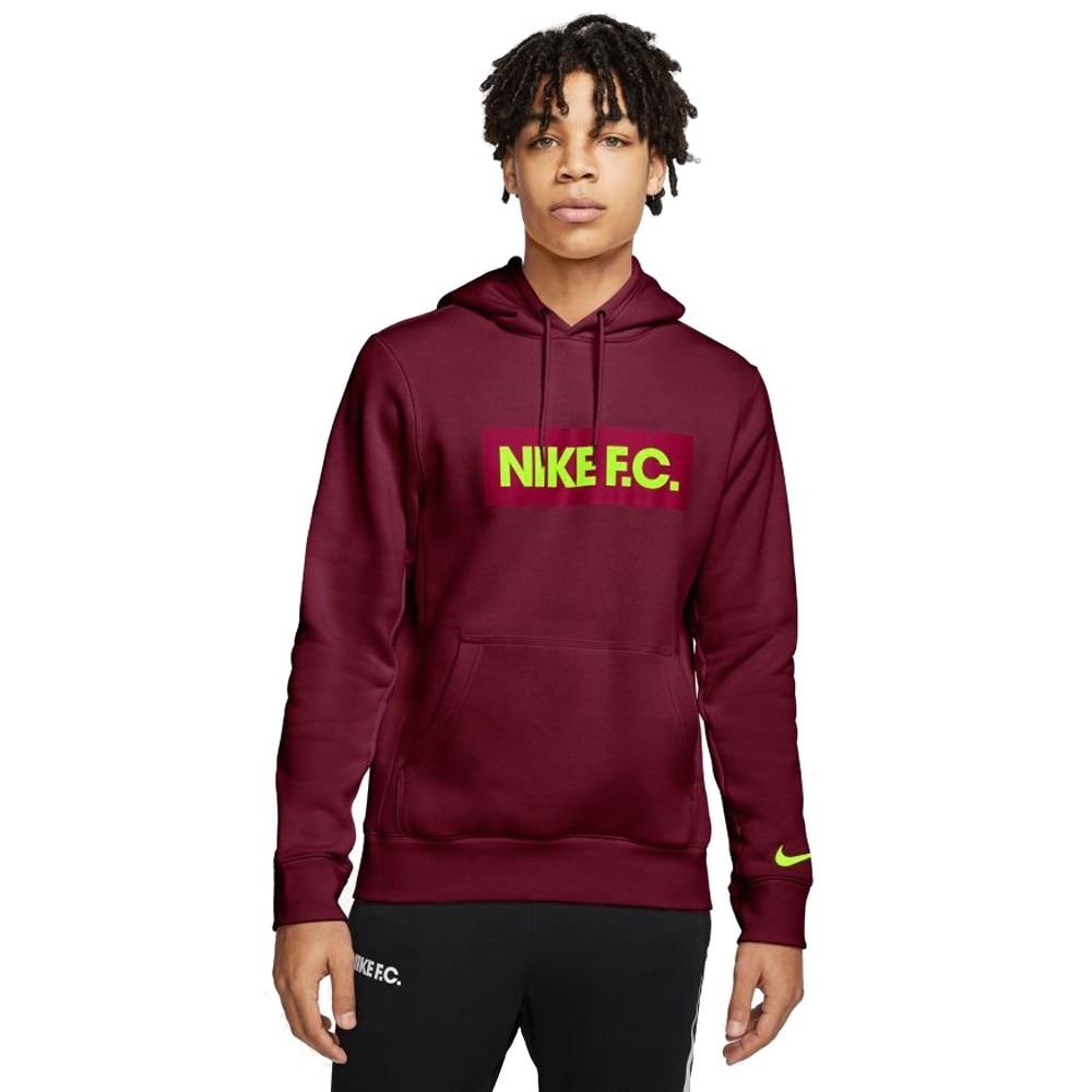 Nike FC Hoodie Hettegenser Burgunder