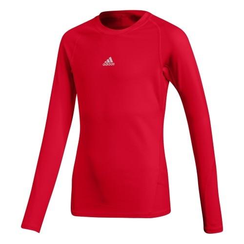 Adidas Alphaskin Sport Langermet Trøye Barn Rød