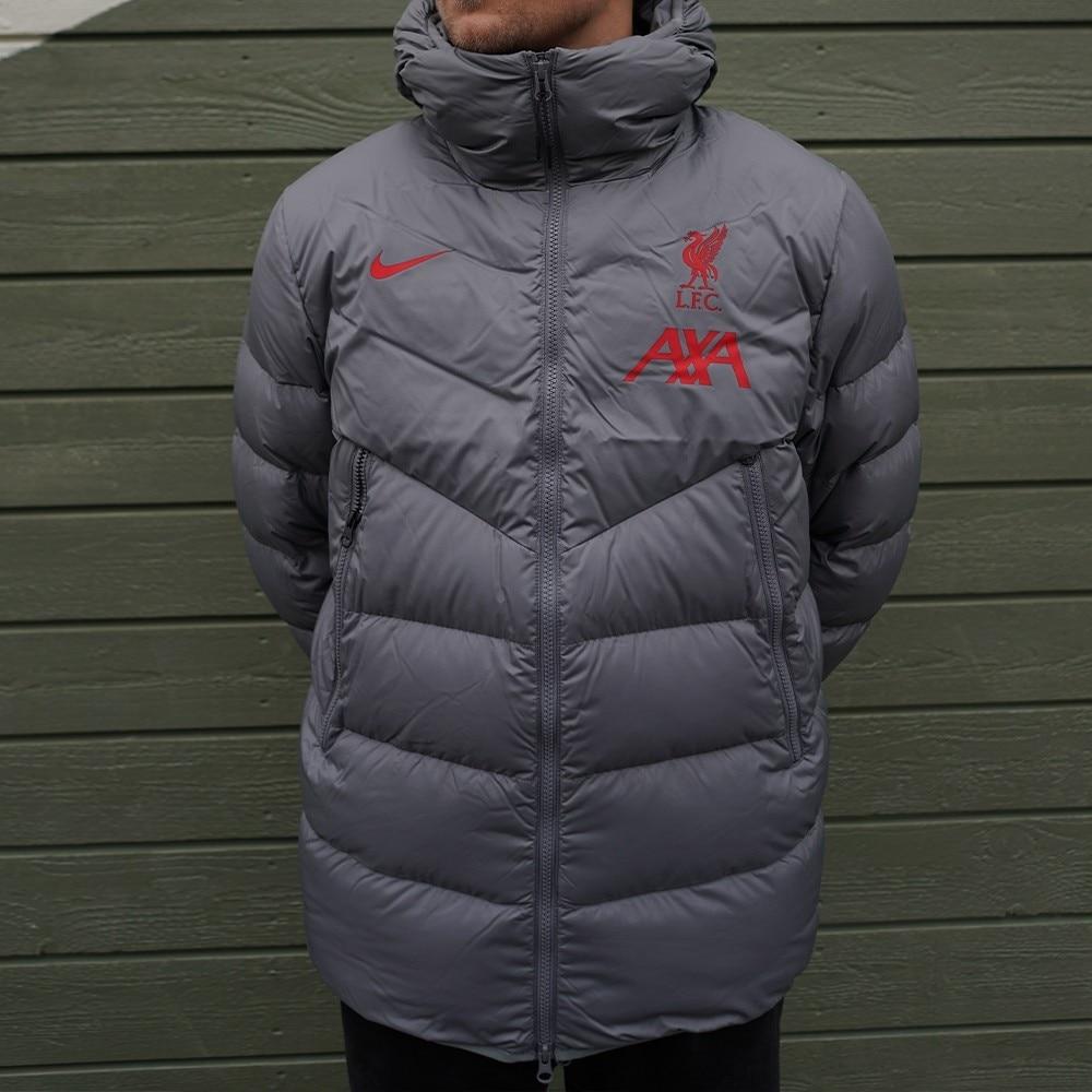 Nike Liverpool FC Strike Fotballjakke 20/21 Grå