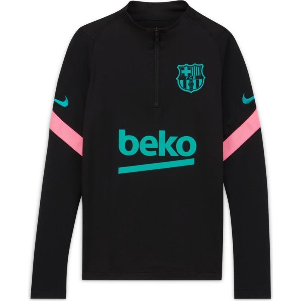 Nike FC Barcelona Dry Strike Fotballgenser 20/21 Barn Sort