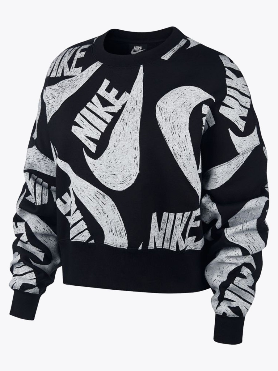 Nike Icon Clash Crew Fritidsgenser Dame Sort
