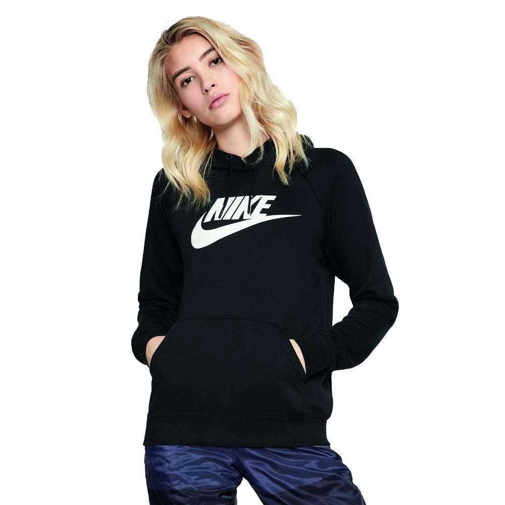 Nike NSW Hoodie Hettegenser Dame Sort