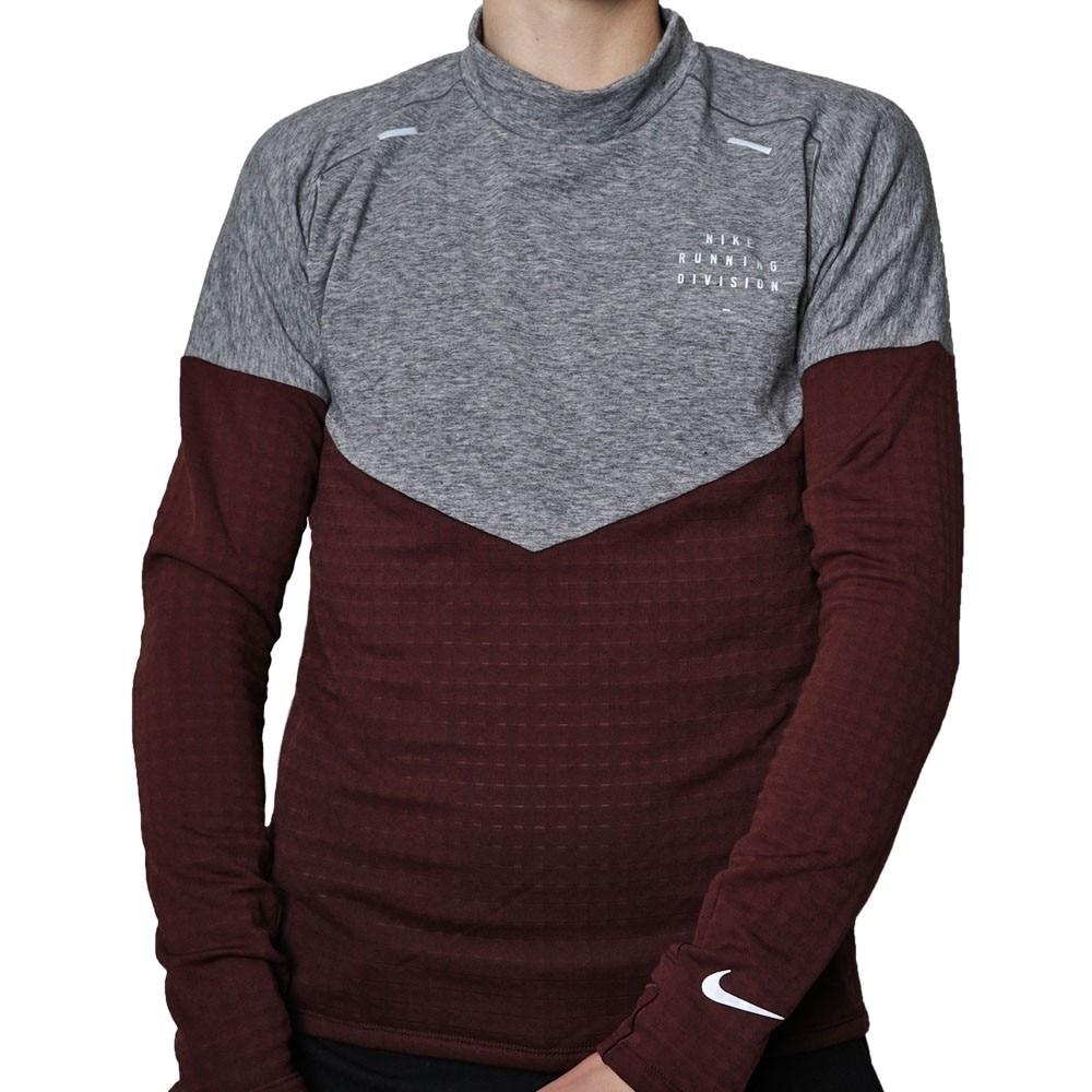 Nike Run Element Sphere Ull Treningsgenser Herre Burgunder/Grå
