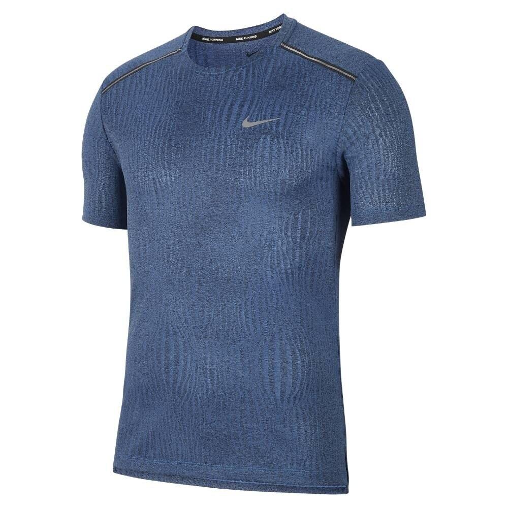 Nike Dry Miler Jacquard Løpetrøye Herre Blå