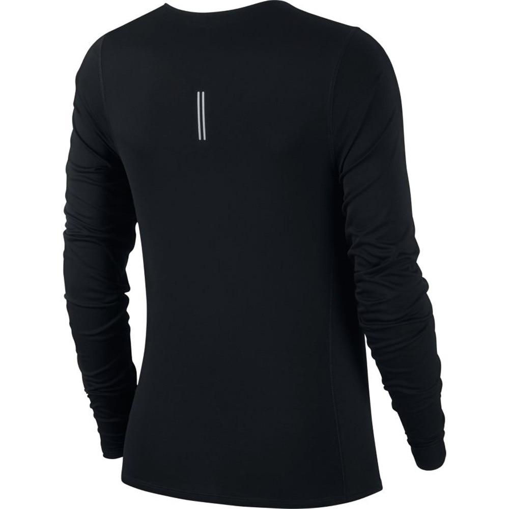 Nike City Sleek Langermet Løpetrøye Dame Sort